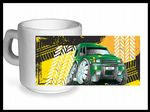 Koolart TYRE TRAX 4x4 Design For Land Rover Discovery 1 & 2 - Ceramic Tea Or Coffee Mug